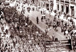 Workers Marching in Russian Revolution