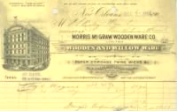 Morris McGraw Wooden Ware Company of New Orleans