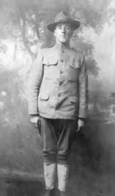 Clayton Batchelor in WW I Uniform 1917