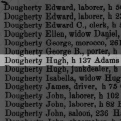 Dougherty Hugh, h 137 Adams