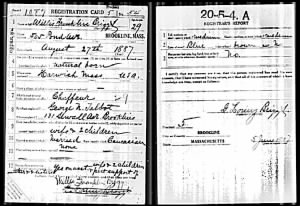 Willis Briggs WWI Draft Card