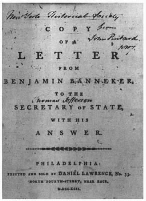 benjamin banneker letter to thomas jefferson american patriots of the revolutionary war topic 4252