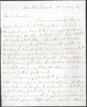 R.E. Lee to General William Nelson Pendleton, August 28, 1865.jpg