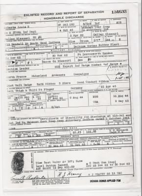 Roberts, Louis Rowland:  Separation papers.jpg