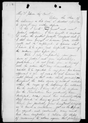 Page 1 of Custer's 45 page written defense