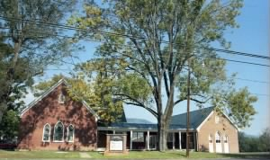 Hillsboro Baptist Church, adjoining the Brown property