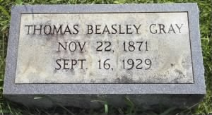 Thomas B. Gray's tombstone picture