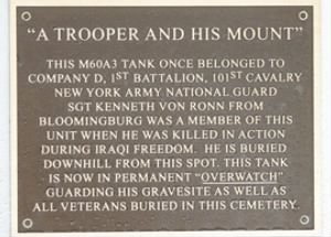 Sgt. Kenneth VonRonn Memorial Plaque