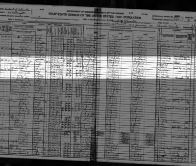 An Ada E. JACK, 1920 fed census, taken in DC. TAYLOR, household.