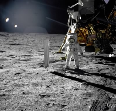 Aldrin Next to Solar Wind Experiment - Fold3.com
