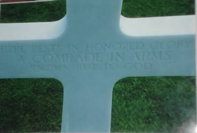 Here Rests in Honored Glory, A Comrad in Arms, Know But to GOD.