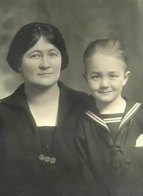 Pearl Turpin Pitman and son Edgar Pitman