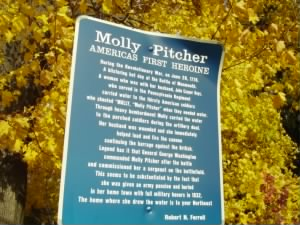 Molly Pitcher plaque