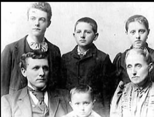 Marion Wesley Akers family c 1895