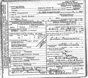 Death Certificate of Louis Becker