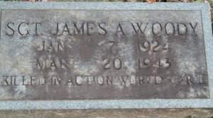 S/Sgt James A Woody,KIA- 321stBG,447thBS/MTO, WW II B-25 Top Gunner