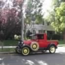 George Underwood's 1929 Ford Truck, a Spiffy-drive-around RED Truck !