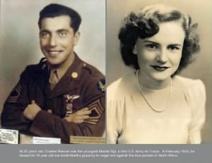 M/Sgt Charles F Reeves,(With his bride, Martha, 1943) 321stBG,447thBS, WW II/MTO