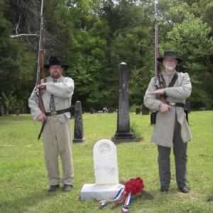Honor Guard during Re-dedication of Robert Cole's Headstone