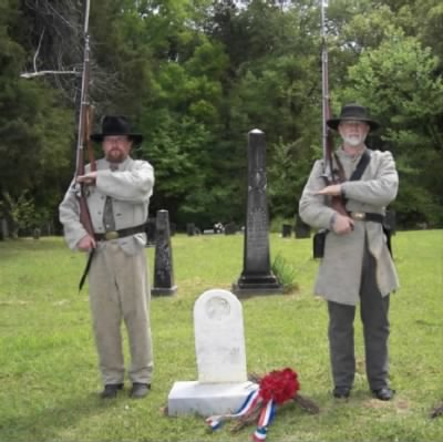 Honor Guard during Re-dedication of Robert Cole's Headstone - Fold3.com