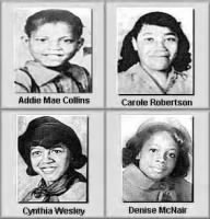 4 Girls Killed in Sixteenth Street Baptist Church Bombing