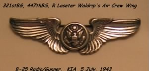 "R. Laseter Waldrip's ""Air Crew"" WING"