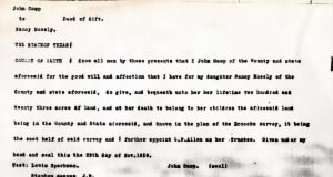 John Camp Deed to Nancy Moseley