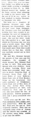 Edward Paul and Sophia Slemmer Family history
