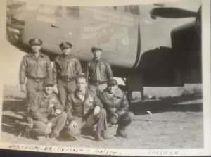Standing far Right) Lt Harold Brellenthin with Arkansas Traveler II /1944