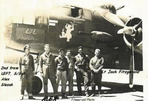 "321stBG,446thBS, S/Sgt Alex Slezak with his Crew and the ""Lil' Butch"""