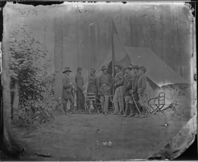 Mathew B Brady Collection of Civil War Photographs › B-10 General Samuel W. Crawford and Staff of Seven. - Fold3.com