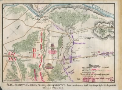 Plan of the battle of Salem Church or Salem Heights, Va. Attack and repulse of the 6th Army Corps, Maj. Genl. John Sedgwick, U.S.A., afternoon of 3rd May 1863. › Page 1 - Fold3.com