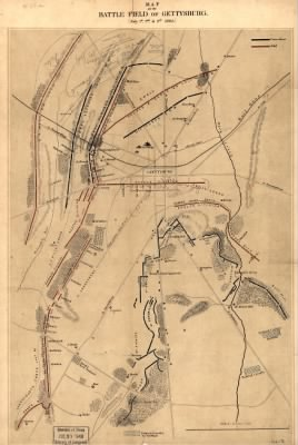 Fold3 Image - Map of the battlefield of Gettysburg. [July 1st, 2nd, and 3rd 1863]