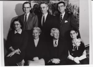 John Cadden w/ siblings & parents