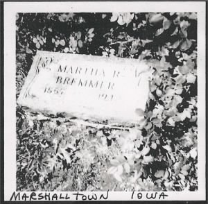 Martha Bremmer (Green) -Headstone