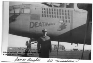"321stBG,447thBS, Capt Jim Bugbee with his ""Deathwind"" / BUGBEE PHOTO"