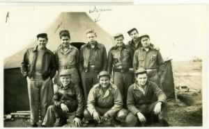 Warren Staley and crew in North Africa