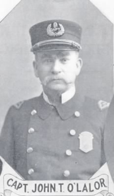 John Thomas O'Lalor, Police Captain, Station #5, Boston, Massachusetts