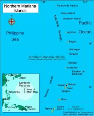 Tinian Island in the South Pacific Ocean