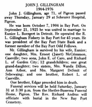 obituary of john gillingham