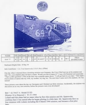 64 Dollar Question B-24 Walter flew on his 23rd mission over Frankfort