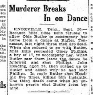 Murderer Breaks In On Dance