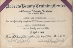 Beauty College Certificate