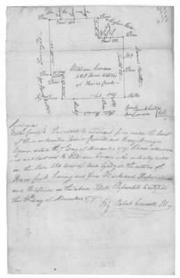 November 18, 1791 Plat of Land Owned by William Coram in Georgia - Fold3.com