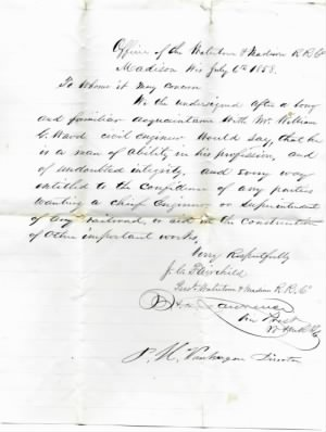 William G. Ward, Letter of Commondation