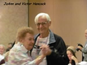 Victor and Joann Hancock at a 57th Bomb Wing Reunion.
