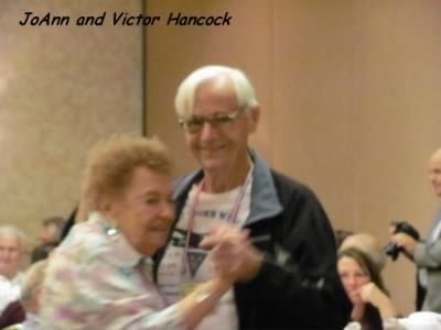 Victor and Joann Hancock at a 57th Bomb Wing Reunion. - Fold3.com