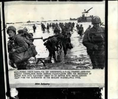 30th Infantry landing on the Beaches of France, 1944 - Fold3.com