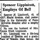 Spencer's Obituary, 1962