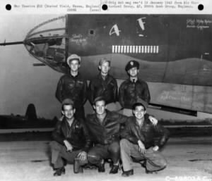 "Earlier crew of B-26 Marauder ""4F"""